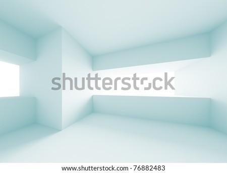 Futuristic Interior Design - stock photo