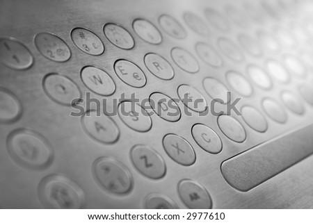 futuristic keyboard - stock photo