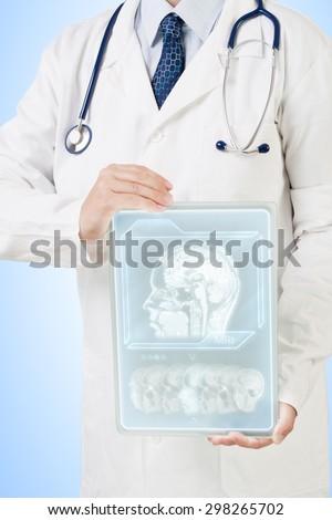 Futuristic medical care - stock photo