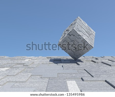 Futuristic modern architectural concept. Abstract fantastic unique conceptual background - stock photo