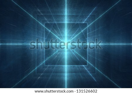 Futuristic new age 3D abstract background - stock photo