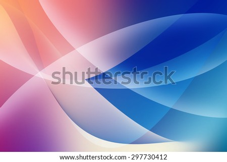 Futuristic Red And Blue Waves Background
