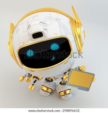 Futuristic robotic manager - stock photo