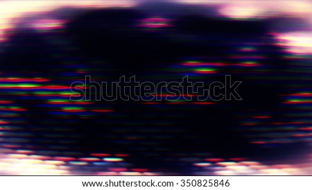 Futuristic technology screen abstraction with pixelation and light effects.