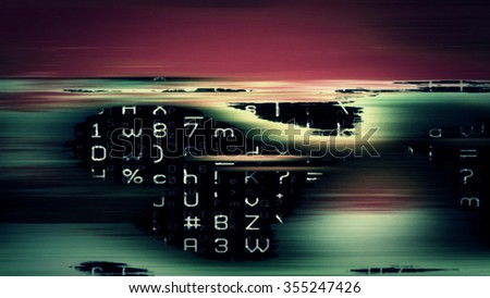 Futuristic technology screen display 10668 from a series of abstract future tech imagery. - stock photo