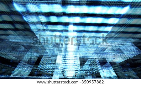Futuristic technology screen 10570 from a series of abstract future tech imagery. - stock photo