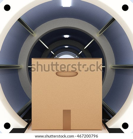 Futuristic tube package, 3D-illustration