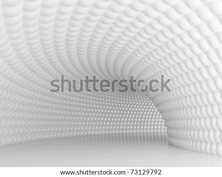 Futuristic Tunnel - stock photo