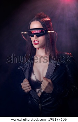 futuristic woman  - stock photo