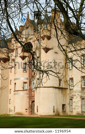 Fyvie Castle Aberdeenshire Scotland - stock photo