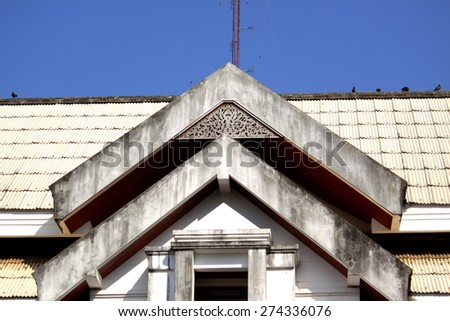 Gable of Building - stock photo