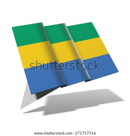 Gabon flag 3D banner - stock photo