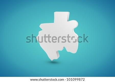 Gabon Map - stock photo