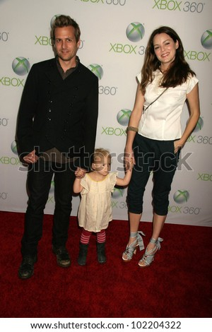 "Gabriel Macht and Jacinda Barrett and daughter Satine Anais Geraldine Macht at the World Premiere of ""Project Natal"" for XBOX 360 Imagined by Cirque Du Soleil, Galen Center, Los Angeles, CA. 06-13-10"
