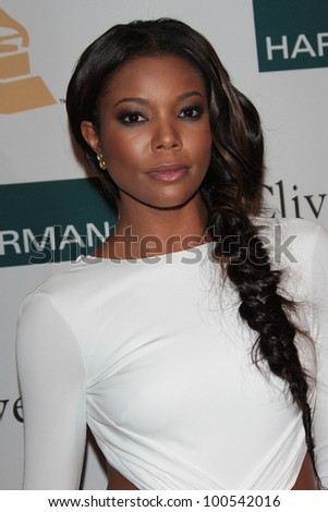 Gabrielle Union at the Clive Davis And The Recording Academy's 2012 Pre-GRAMMY Gala, Beverly Hilton Hotel, Beverly Hills, CA 02-11-12