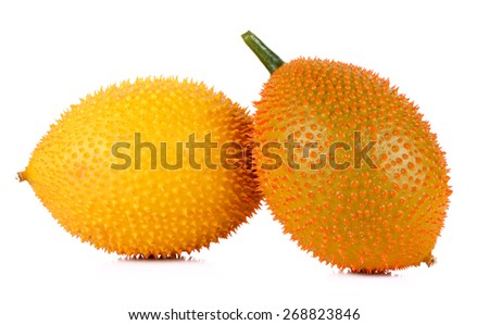 Gac fruit isolated on white background. - stock photo