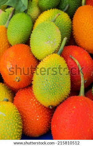 Gac Fruit (Momordica cochinchinensis) - stock photo