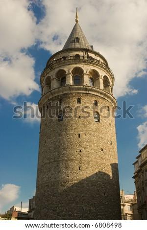 Galata Tower in Istanbul Turkey - stock photo