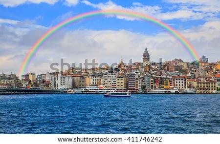 Galata tower, istanbul Turkey - stock photo