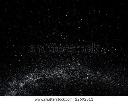 Galaxy and Universe - The International Year of Astronomy - stock photo