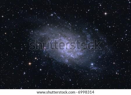 Galaxy in Triangle (M33) - stock photo