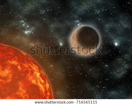 Galaxy Stars In The Universe Outside Earth Abstract Graphic Design Wallpaper Card