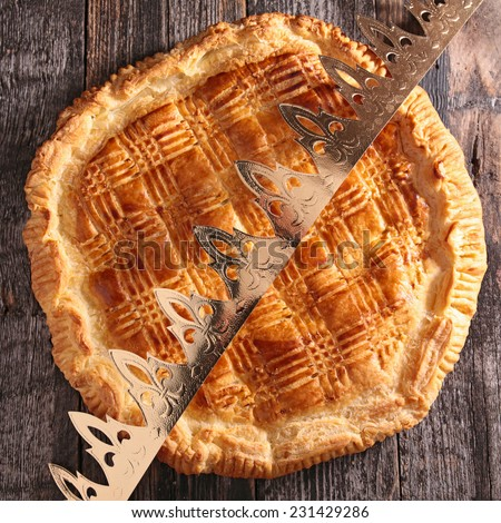 galette and crown - stock photo