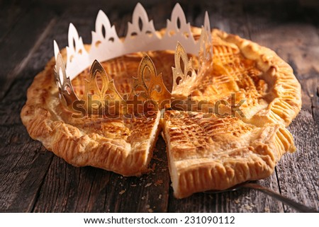 galette with crown - stock photo