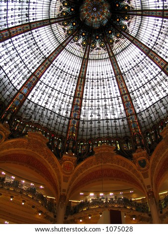 Galleries Layfayette Paris Dome - stock photo