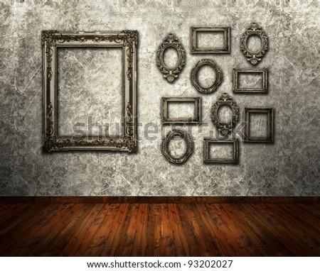 Gallery exhibition - stock photo
