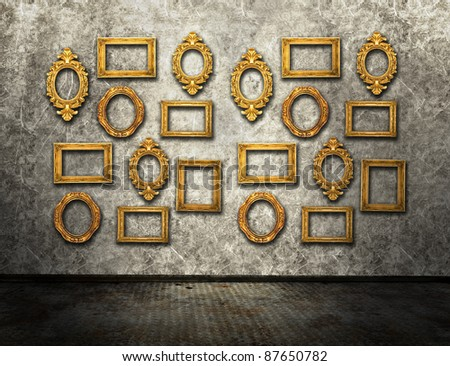 Gallery exhibition, similar available in my portfolio - stock photo