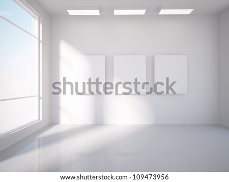 Gallery Hall - stock photo