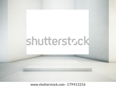 Gallery Interior with empty space - stock photo
