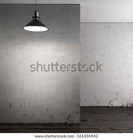 Gallery with empty walls - stock photo