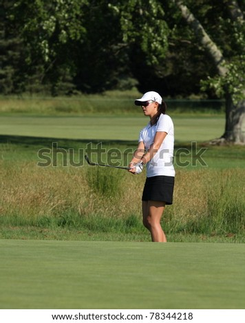 GALLOWAY, NJ - MAY 31: Michelle Wie, currently ranked No. 10, golfs during practice round at the 2011 Shoprite LPGA Classic held at the Seaview Golf Resort on May 31, 2011 in Galloway, NJ