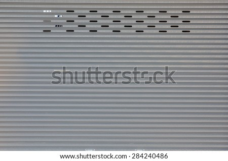 galvanized door texture background - stock photo