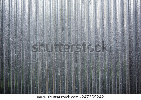 galvanized sheet - stock photo