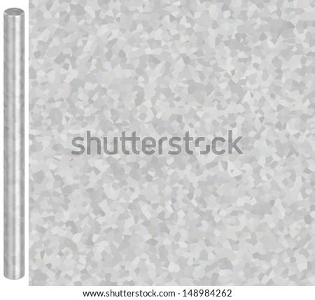 Galvanized Steel Texture (For Metal Tubes) - stock photo