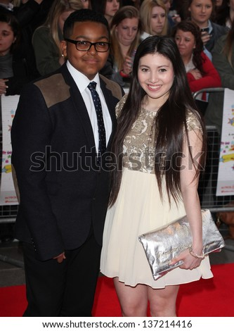 Gamal Toseafa and Hanae Atkins arriving for the All Stars 3D Premiere, Vue West End, London. 22/04/2013