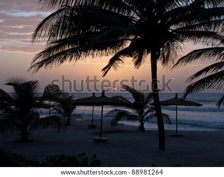 Gambia Sunset - stock photo