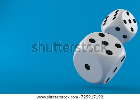 Gamble concept isolated on blue background. 3d illustration