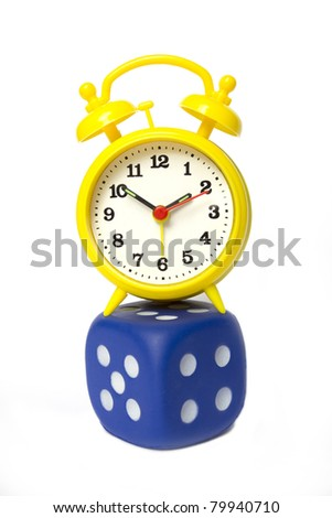 gamble with time - stock photo