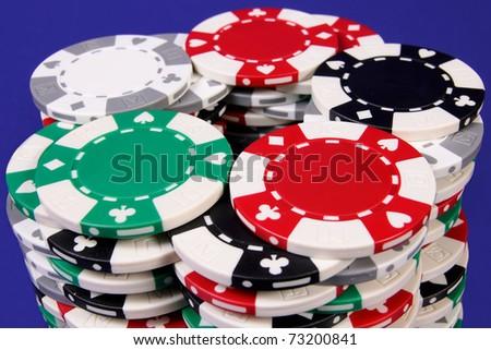 Gambler's chips - stock photo
