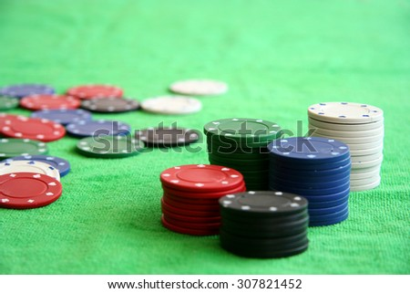 Gambling chips in casino