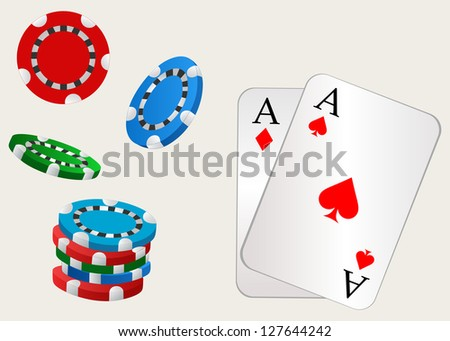Gambling. Raster version - stock photo