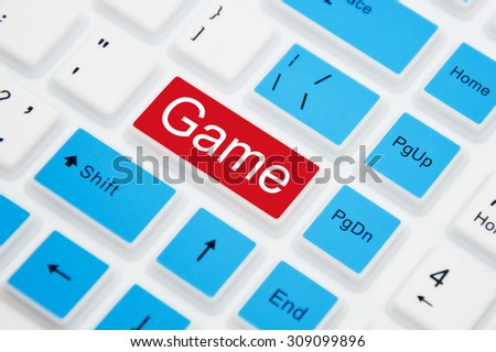 Game Button on a computer keyboard - stock photo