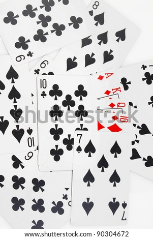 game cards icons background - stock photo