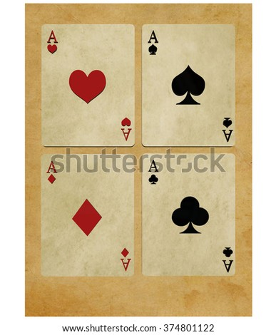 Game cards on white background