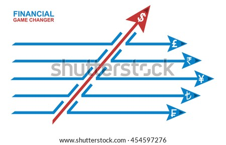Game changer business or financial change concept and disruptive innovation symbol and be an independent thinker with new ideas - stock photo