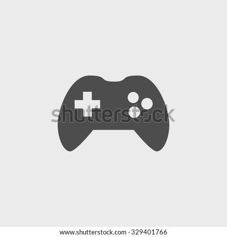 Game controller icon. Flat design style  - stock photo